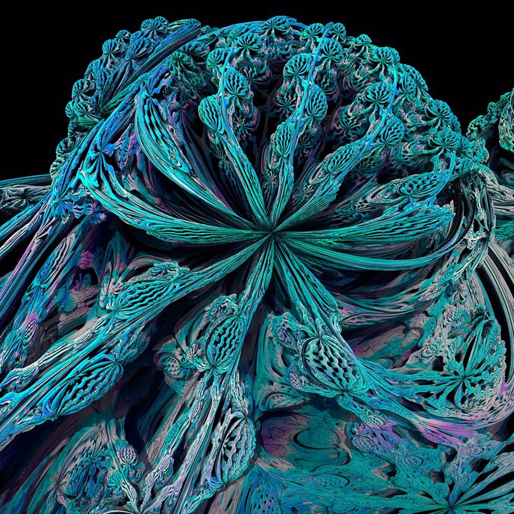 Stock Photo: 4128R-13991 Mandelbulb fractal. Computer_generated image of a three_dimensional analogue derived form a Mandelbrot Set.