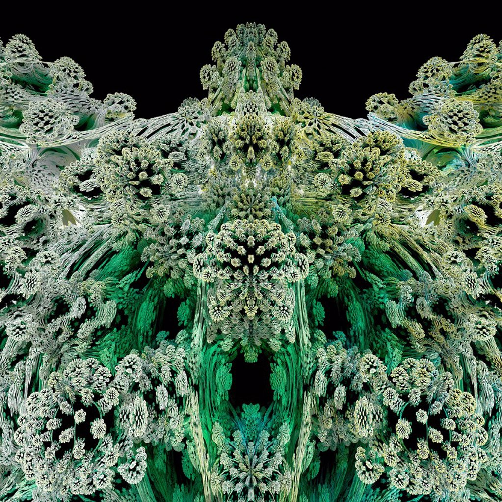 Stock Photo: 4128R-13992 Mandelbulb fractal. Computer_generated image of a three_dimensional analogue derived form a Mandelbrot Set.