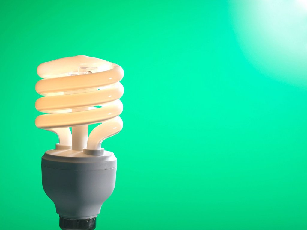 Stock Photo: 4128R-15780 Energy_saving light bulb.