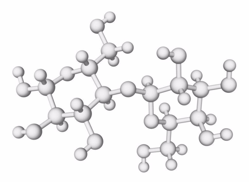 Stock Photo: 4128R-16484 Lactose enzyme, molecular model.