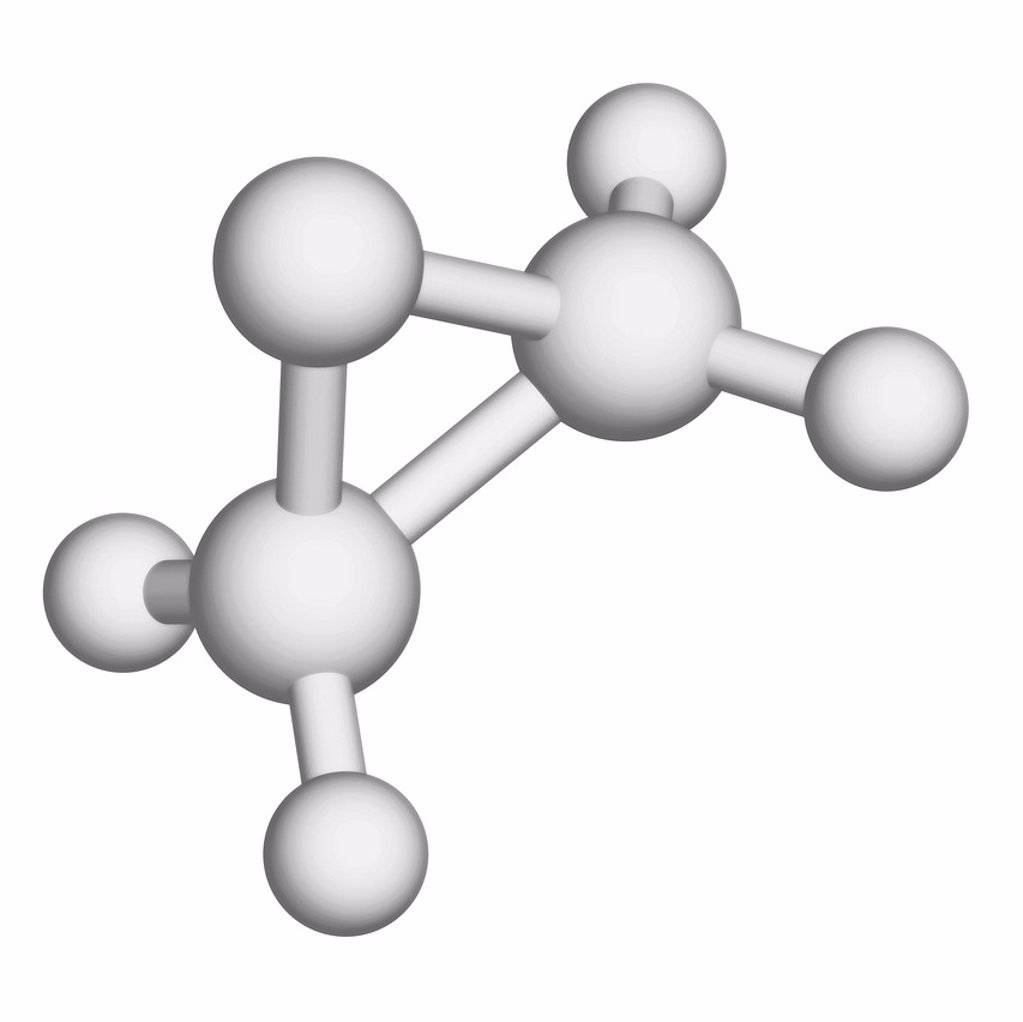 Stock Photo: 4128R-17244 Ethylene oxide antimicrobial agent, molecular model.