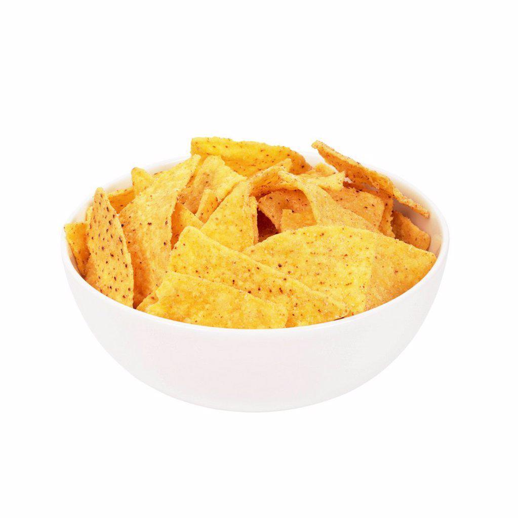 Bowl of tortilla chips. : Stock Photo