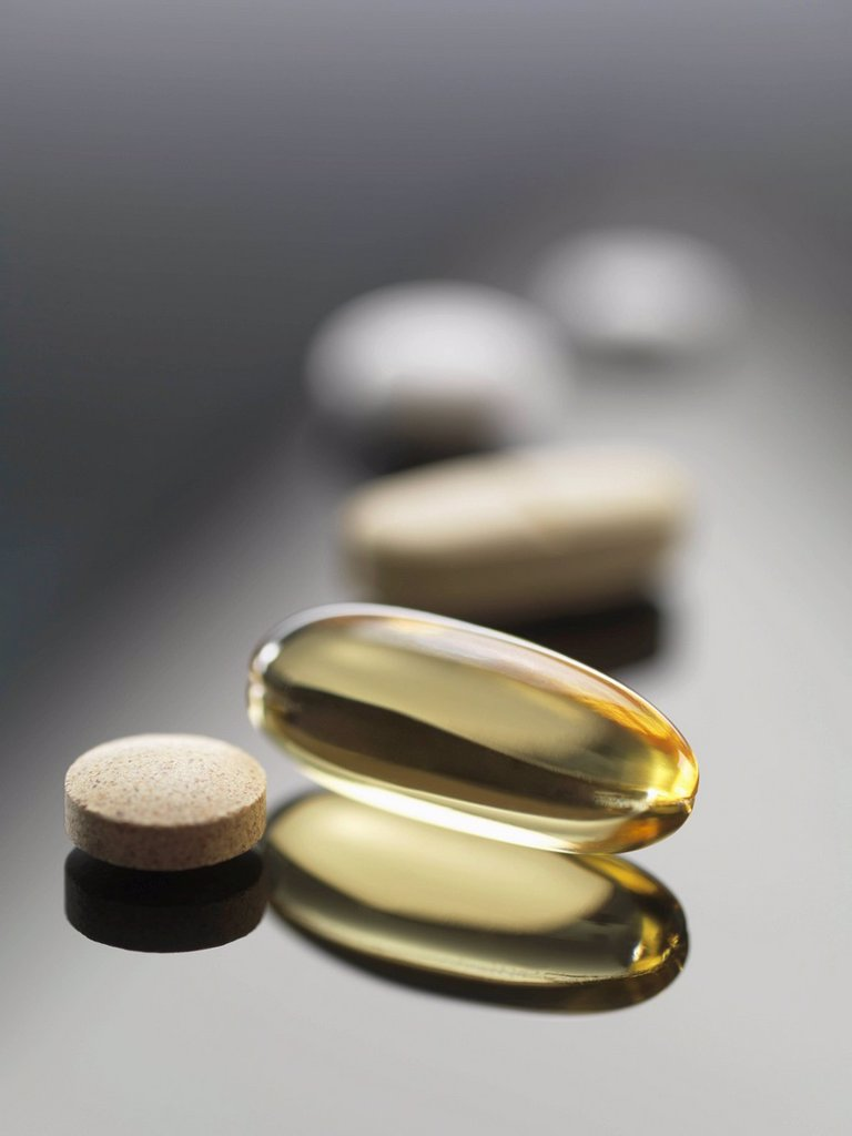 Dietary supplements : Stock Photo