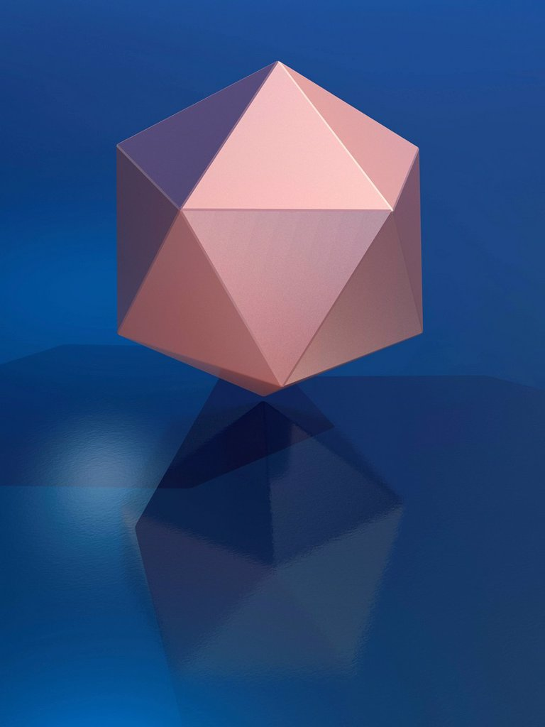 Stock Photo: 4128R-20326 Icosahedron, artwork