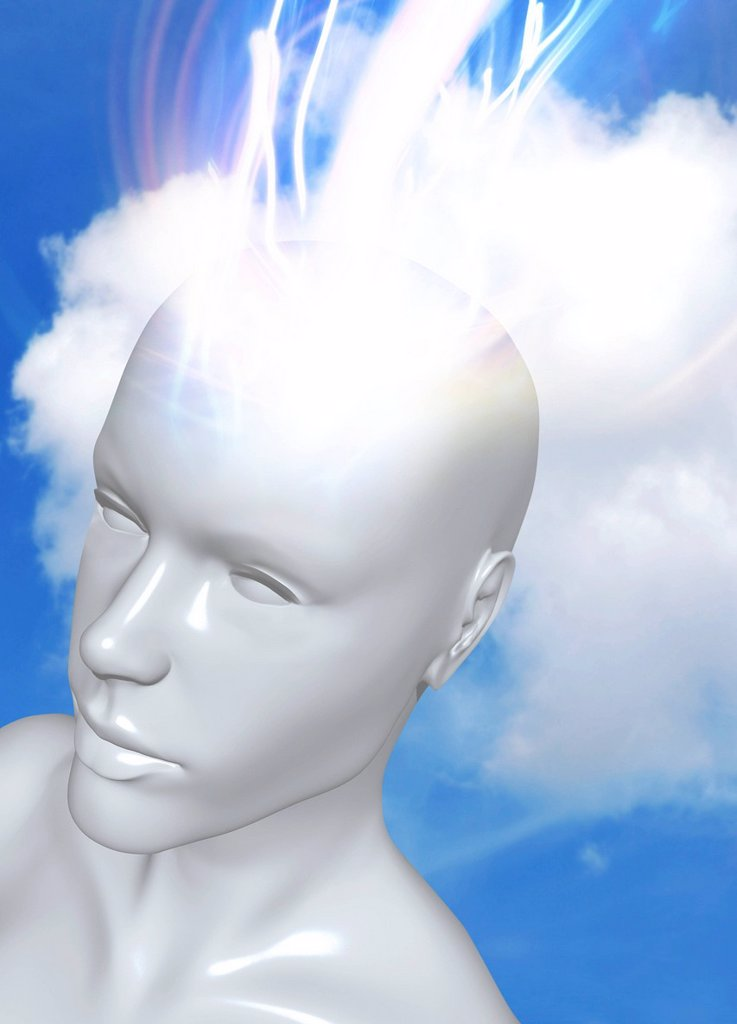 Stock Photo: 4128R-20364 Consciousness, conceptual artwork