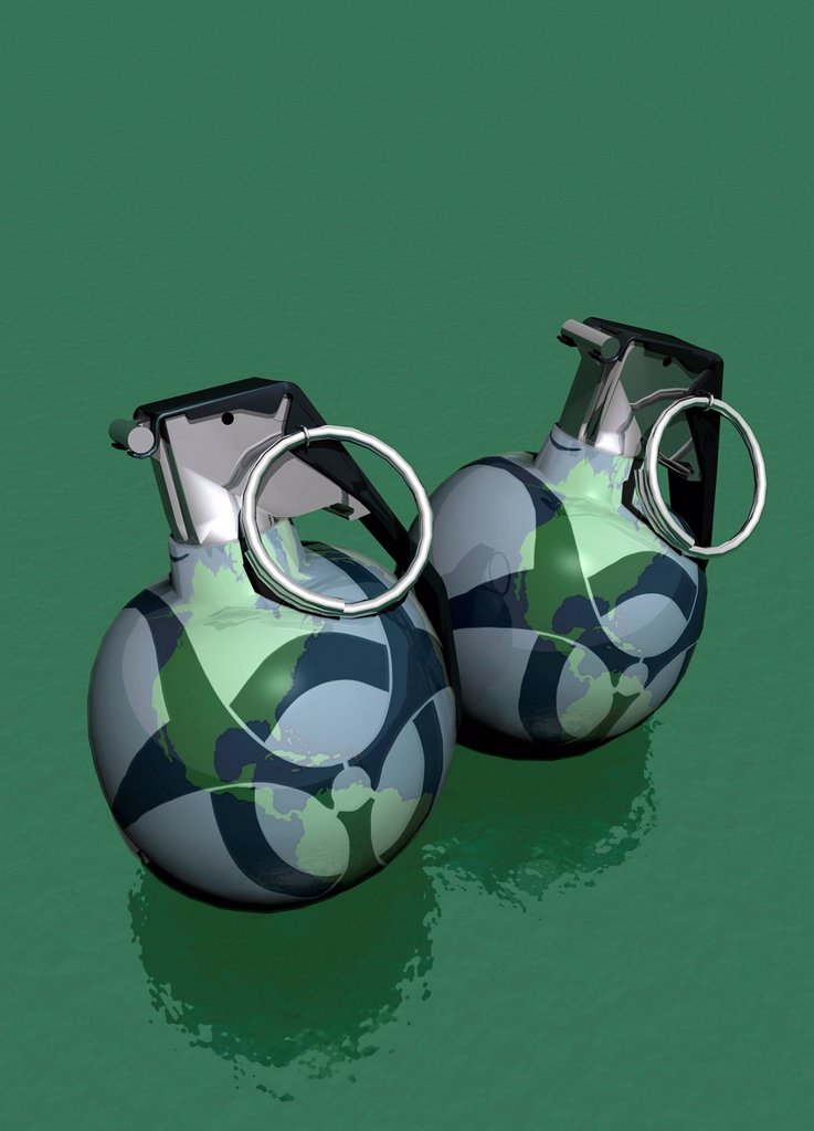 Stock Photo: 4128R-20434 Biological warfare, conceptual artwork