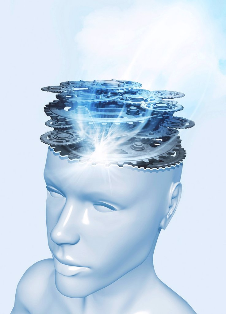 Consciousness, conceptual artwork : Stock Photo