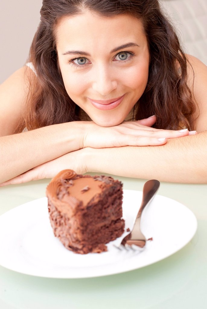 Stock Photo: 4128R-20605 Diet temptation