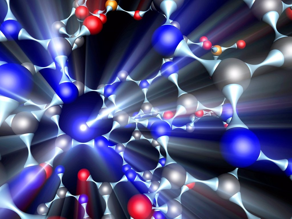 Stock Photo: 4128R-20641 Molecule, artwork