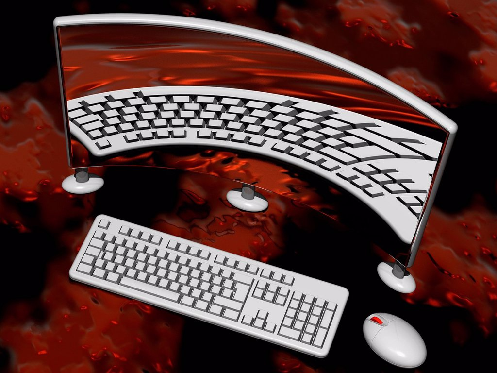 Stock Photo: 4128R-20729 Personal computer, artwork