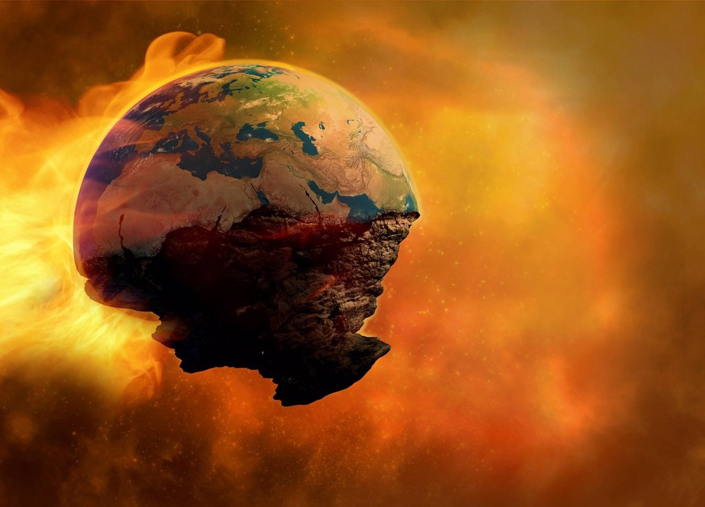 Stock Photo: 4128R-20863 End of the world, artwork