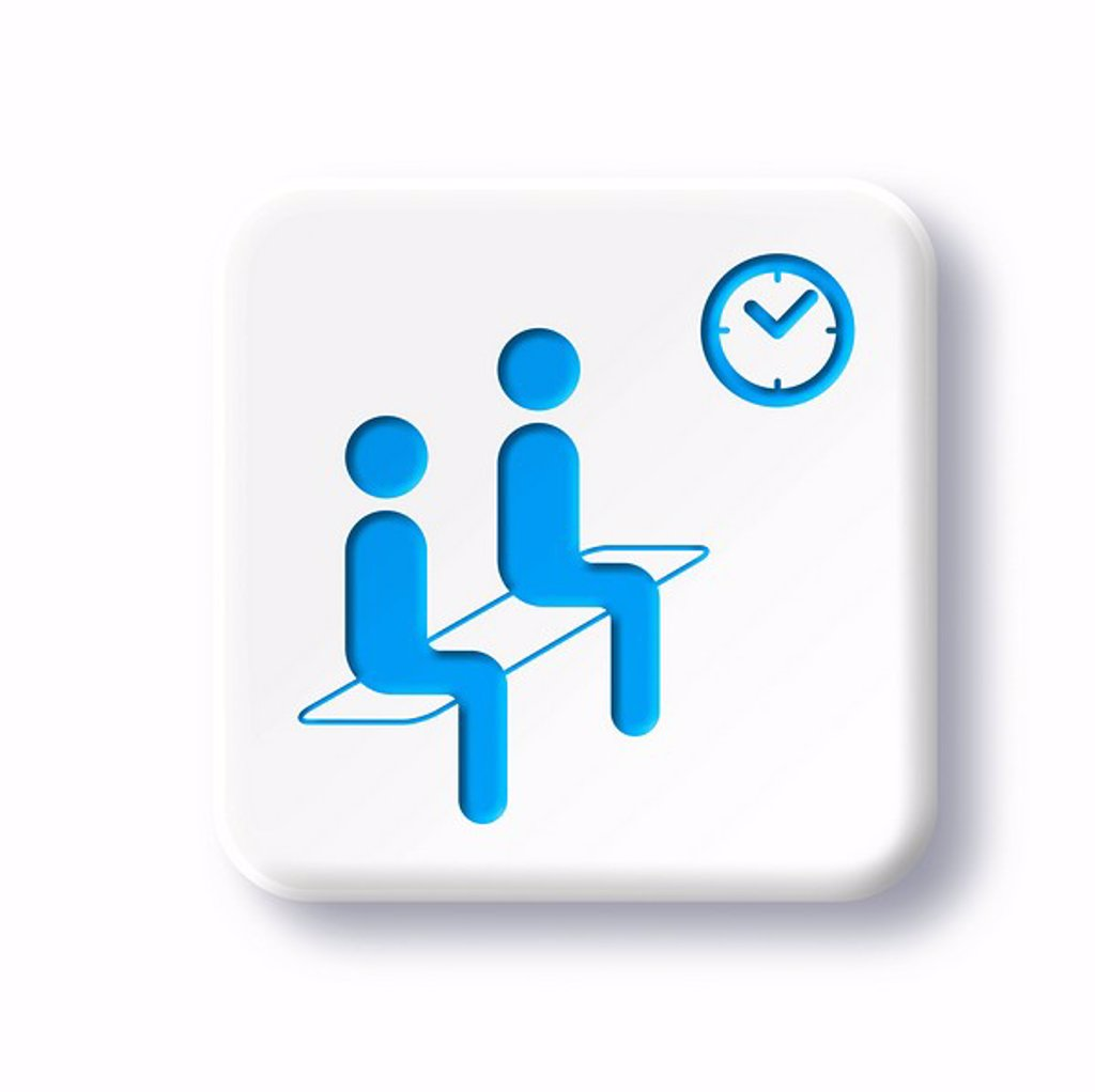 Stock Photo: 4128R-2094 Waiting room symbol, artwork