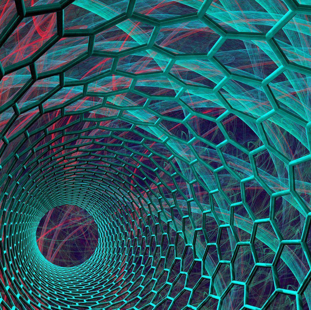 Carbon nanotube, artwork : Stock Photo