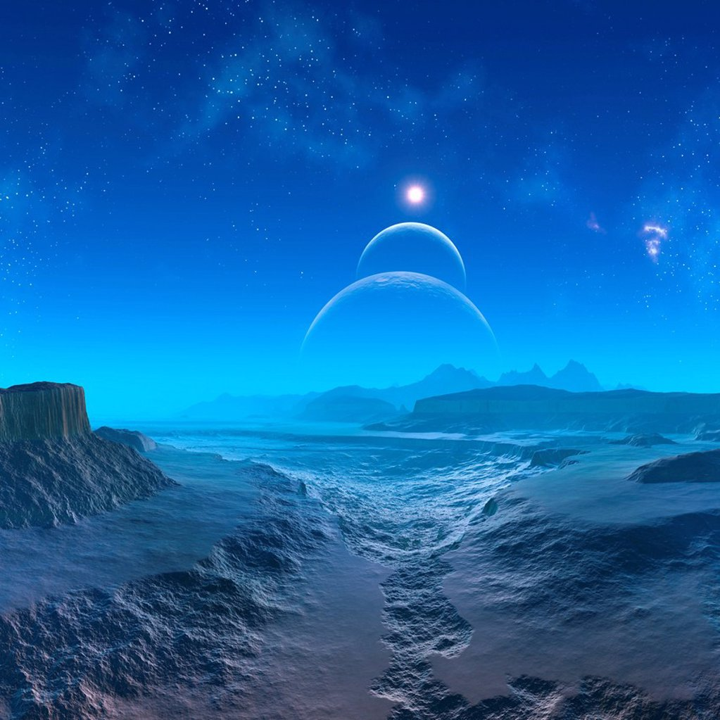 Stock Photo: 4128R-21059 Alien planet, artwork