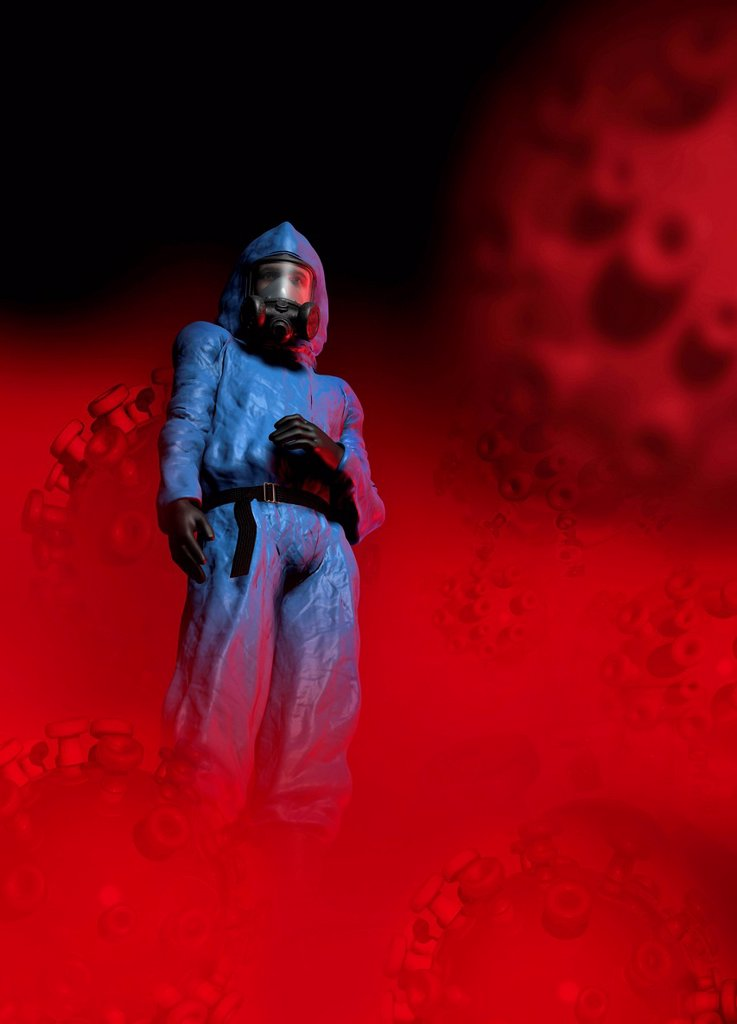 Biological warfare, conceptual artwork : Stock Photo