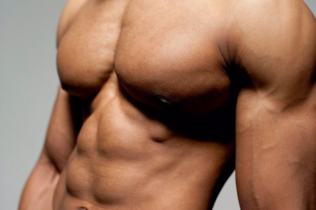 Stock Photo: 4128R-21302 Male torso