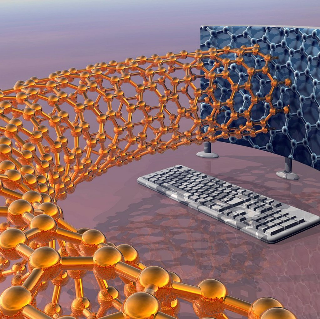 Nanotechnology research, conceptual image : Stock Photo