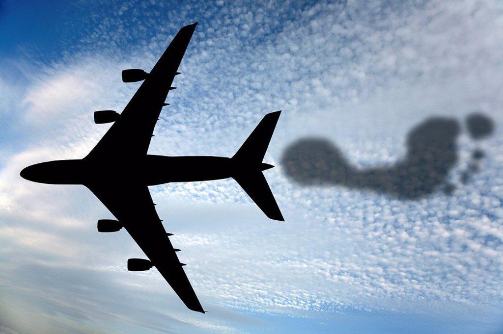 Carbon footprint, conceptual image : Stock Photo