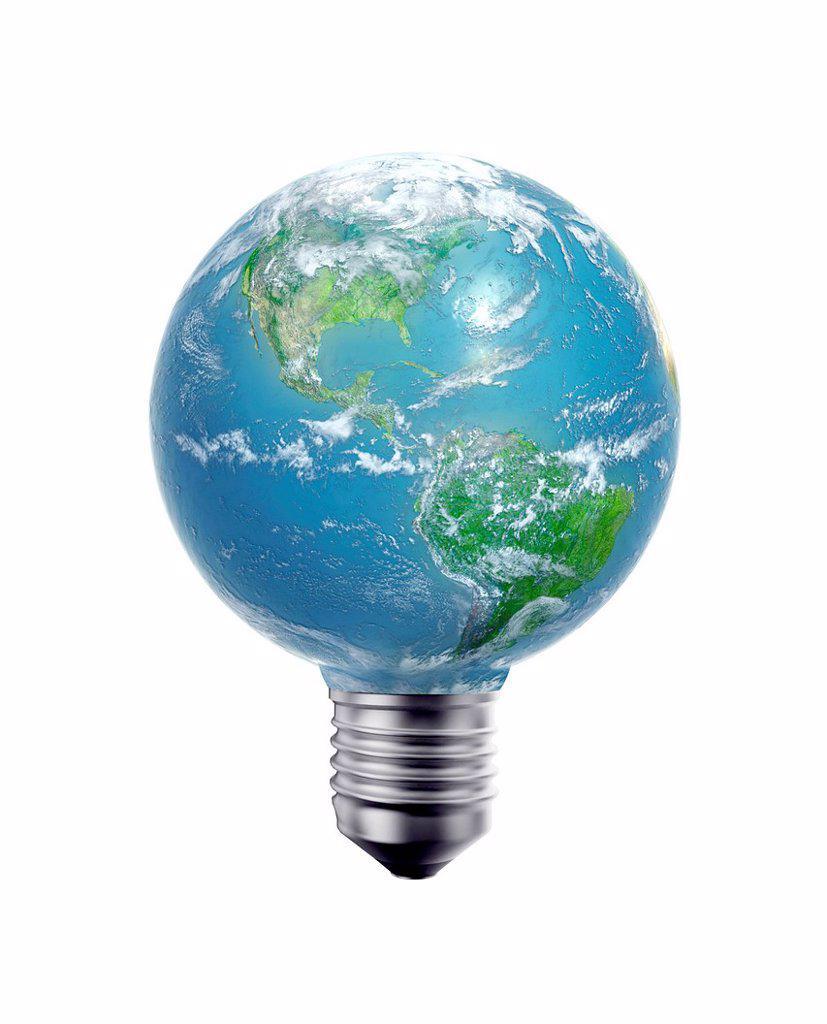 Green energy, conceptual computer artwork. : Stock Photo