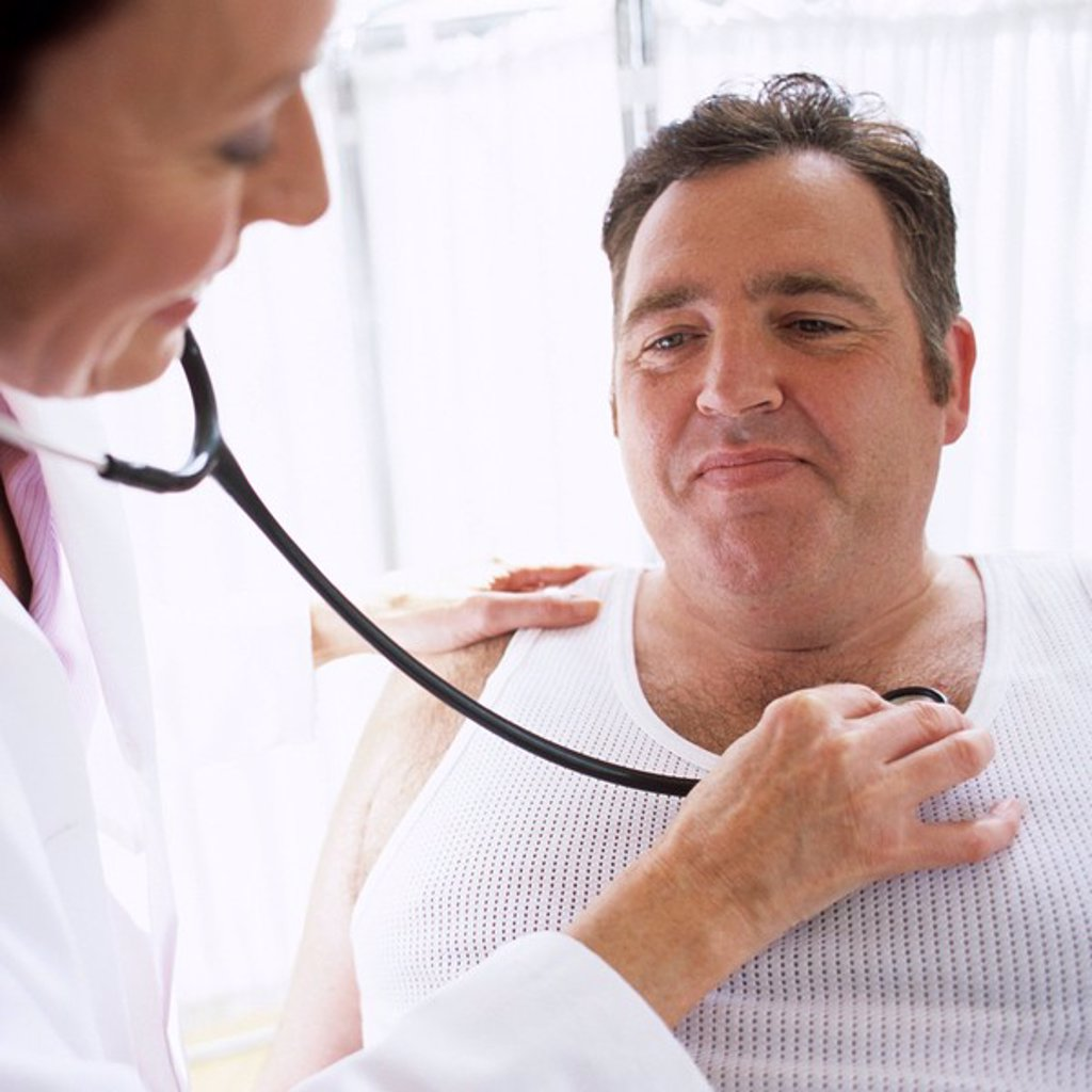 Stock Photo: 4128R-3236 Stethoscope examination