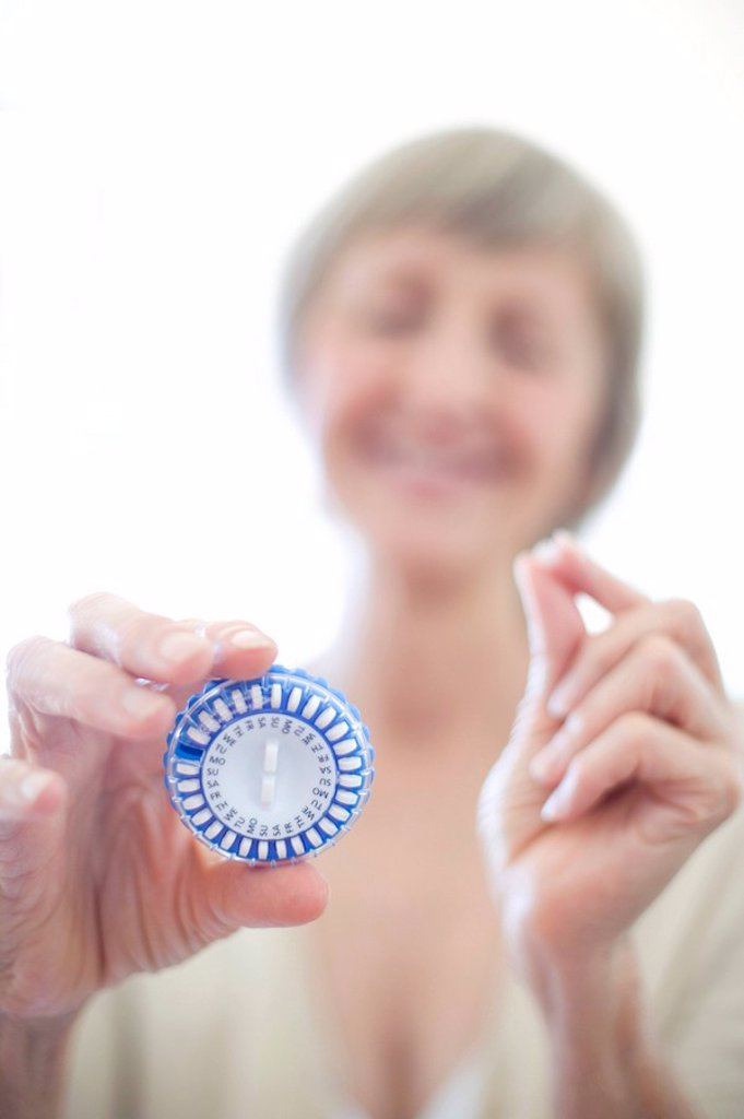 Hormone replacement therapy pills : Stock Photo