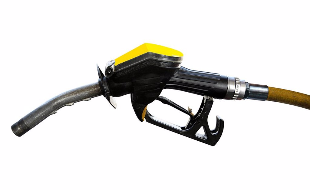 Fuel pump nozzle. : Stock Photo
