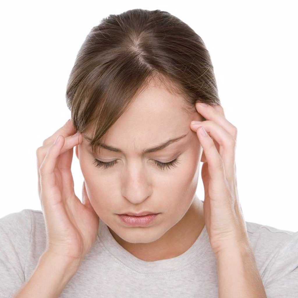 MODEL RELEASED. Headache. : Stock Photo