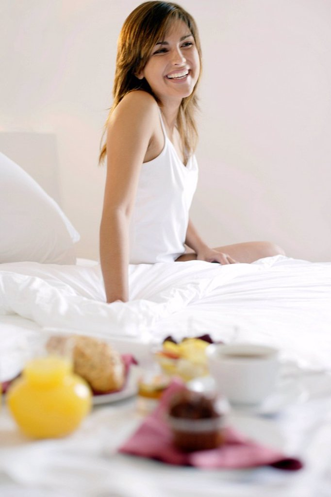 Stock Photo: 4128R-5686 Woman waking