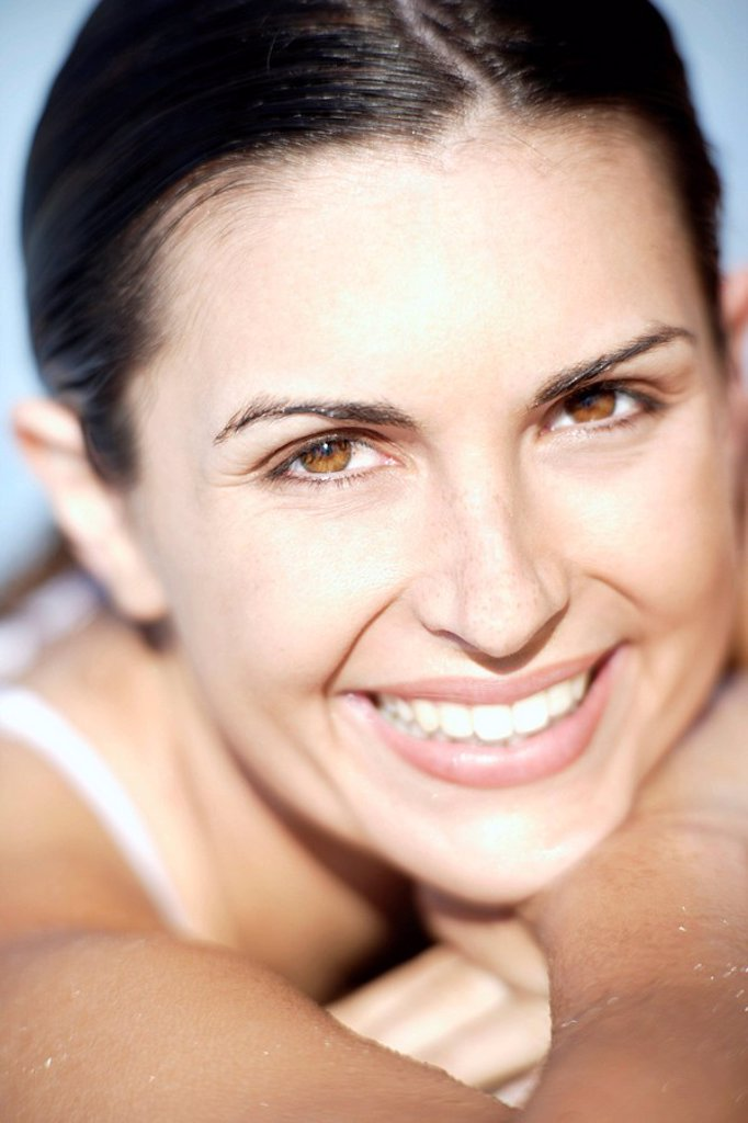 Stock Photo: 4128R-5888 Happy woman