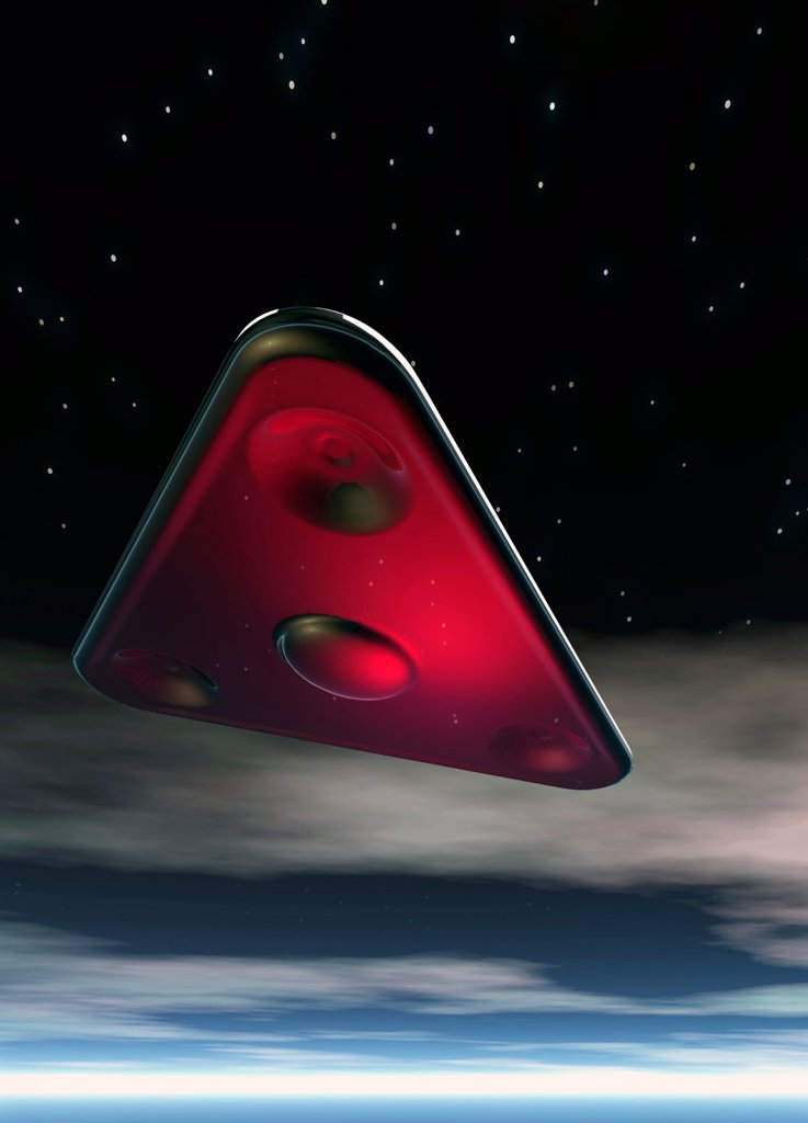 Stock Photo: 4128R-9287 UFO, artwork