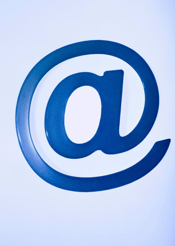 Stock Photo: 4128R-9371 Email symbol