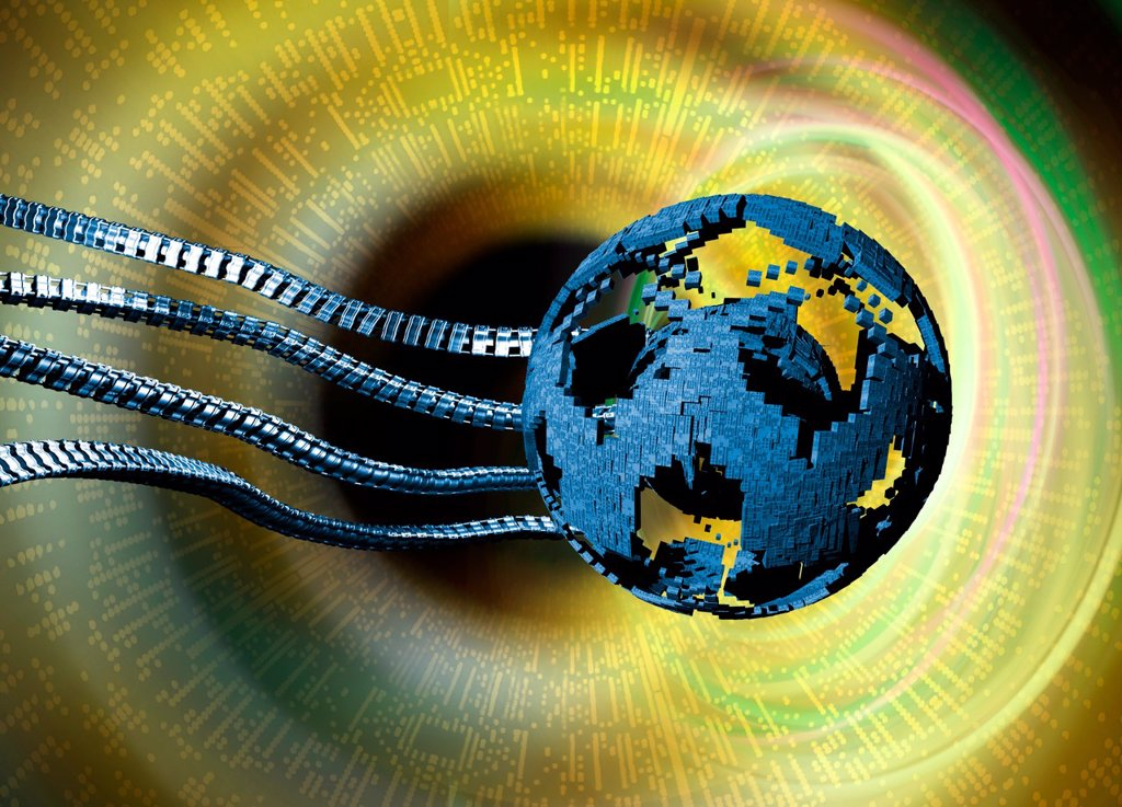 Global network, conceptual artwork : Stock Photo