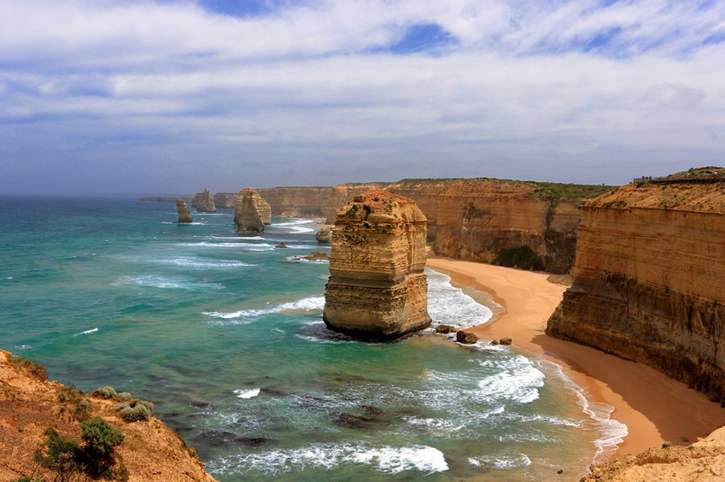 Twelve Apostles,Australia,Victoria,Port Campbell Nationalpark,Great Ocean Road : Stock Photo