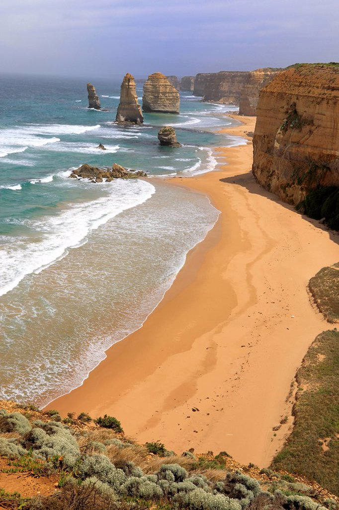 Stock Photo: 4133-2318 Twelve Apostles,Australia,Victoria,Port Campbell Nationalpark,Great Ocean Road