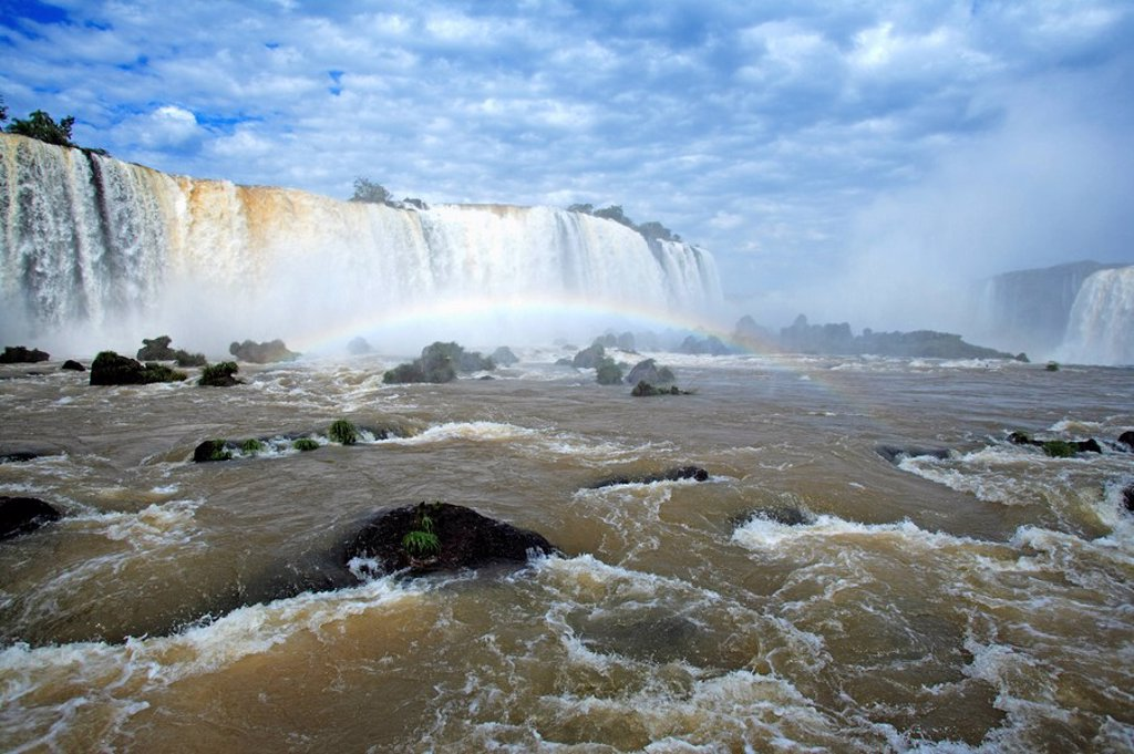 Stock Photo: 4133-6553 Iguazu Falls,Brazil,Iguazu National Park