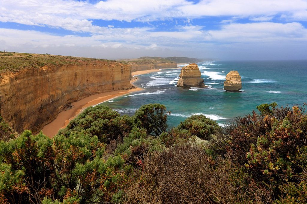 Stock Photo: 4133-9037 Twelve Apostles,Australia,Victoria,Port Campbell Nationalpark,Great Ocean Road