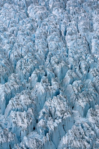 Stock Photo: 4141-1428 peters glacier ice ridges, south georgia, antarctica