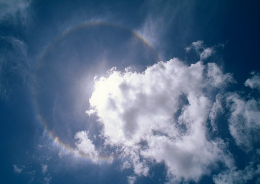 Stock Photo: 4141-15993 rainbow round the sun north eastern coast of brazil, south america february