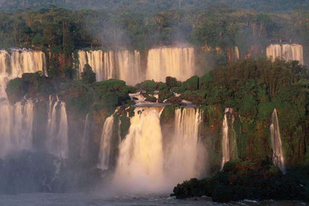 iguazu falls world heritage site view from brazilian side, iguazu national park, parana, brazil : Stock Photo