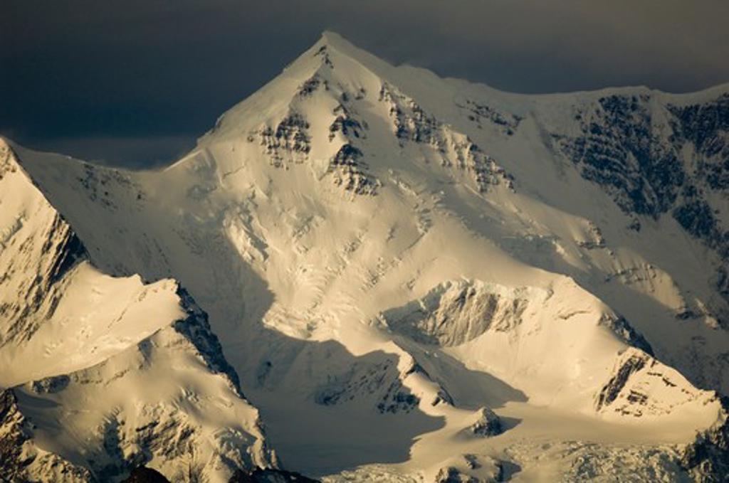 Stock Photo: 4141-3400 mt. paget (2934m) highest peak on island south georgia island, sub-antarctic, atlantic ocean.