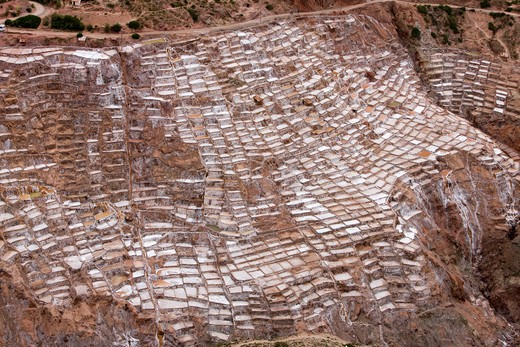 Stock Photo: 4141-51664 Maras Salt Mines, Salinas Near Tarabamba In Peru