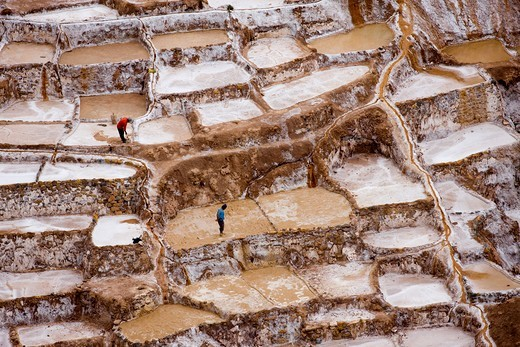 Maras Salt Mines, Salinas Near Tarabamba In Peru : Stock Photo