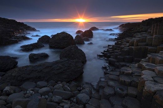 Stock Photo: 4141-59030 Giant'S Causeway, County Antrim, Northern Ireland