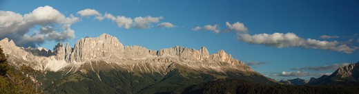 Stock Photo: 4141-59569 Dolomitic Panorama With Catinaccio And Latemar, Tires Valley, Alto Adige, Italy