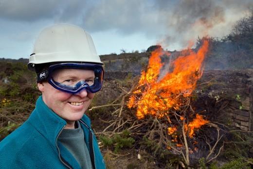 Stock Photo: 4141-71531 Great Wheal Seton; Conservation Work; Cornwall; UK