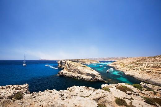 Stock Photo: 4148R-2304 Comino and Gozo island in malta