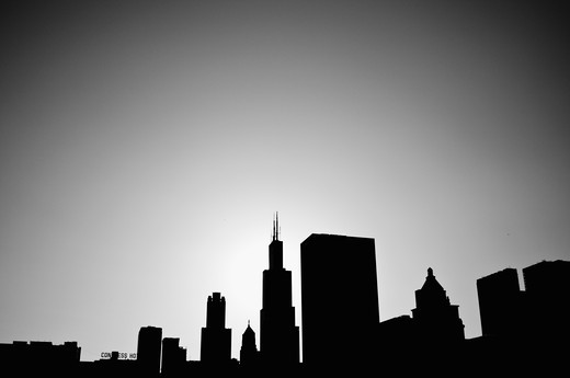 Buildings in a city, Chicago, Illinois, USA : Stock Photo
