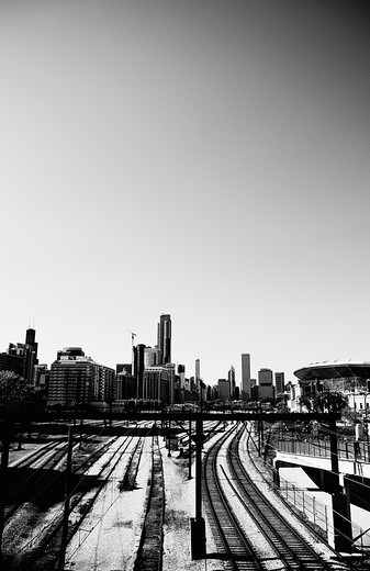 Stock Photo: 4152-160 Buildings in a city, Chicago, Illinois, USA