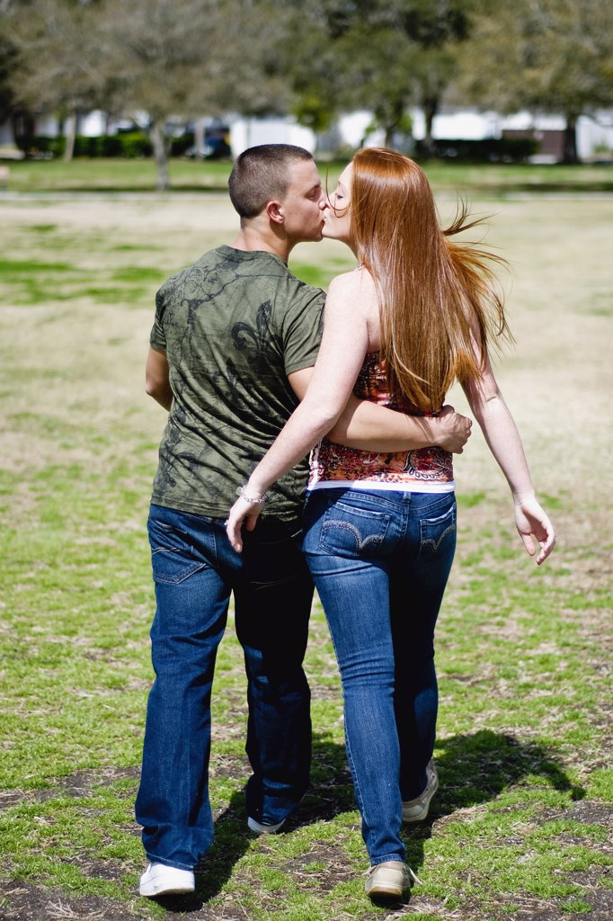 Stock Photo: 4152-252 Young couple kissing