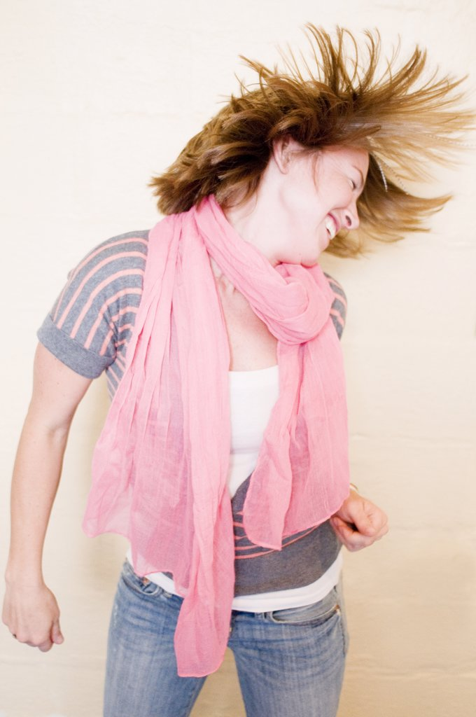 Stock Photo: 4152R-302 Young woman dancing